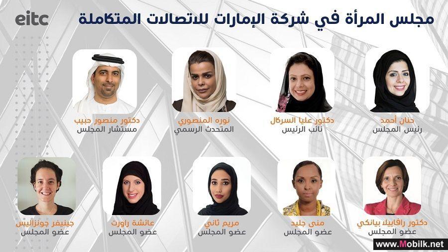 شركة الإمارات للاتصالات المتكاملة تطلق أول مجلس للمرأة على مستوى القطاع