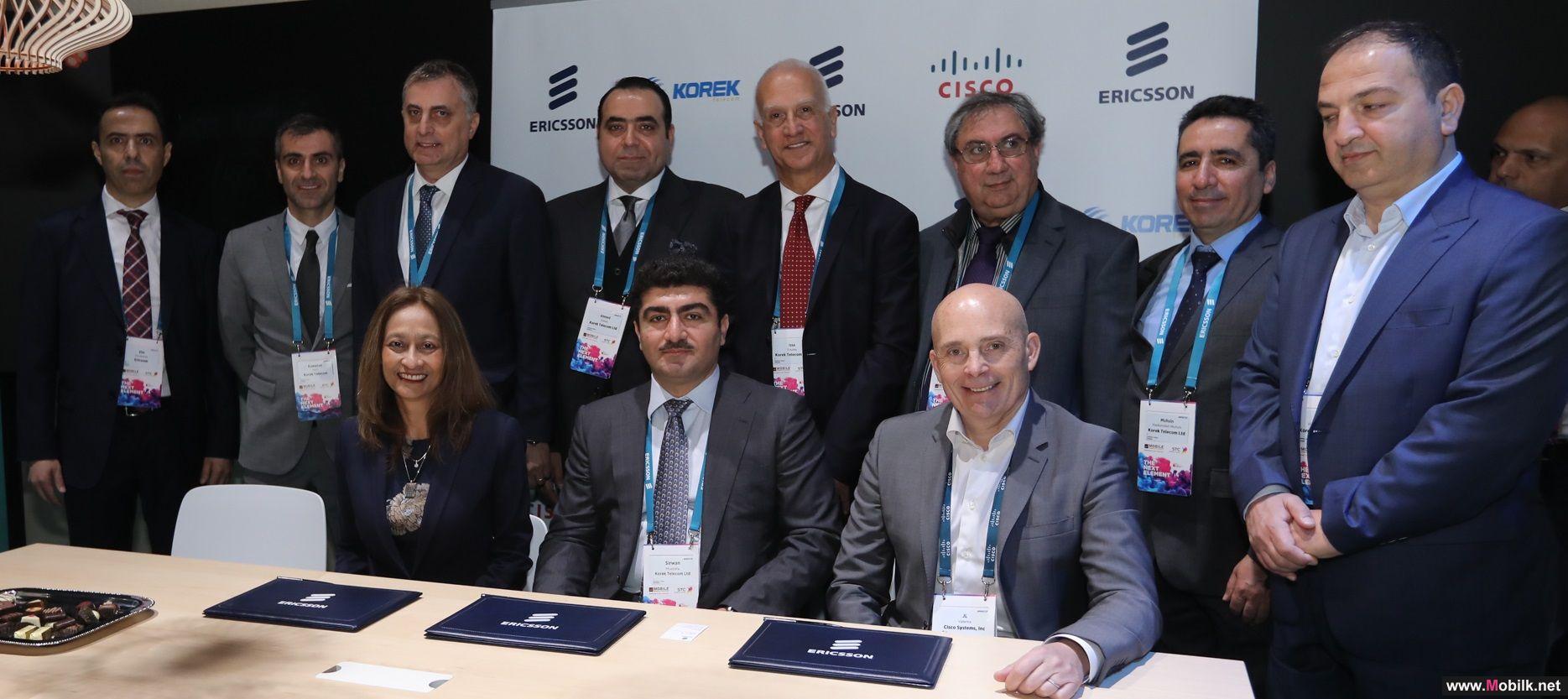 اريكسون وسيسكو تتعاونان في سبيل تطوير شبكة بروتوكول الانترنت  (IP)الأساسية  لشركة كورك تيليكوم.