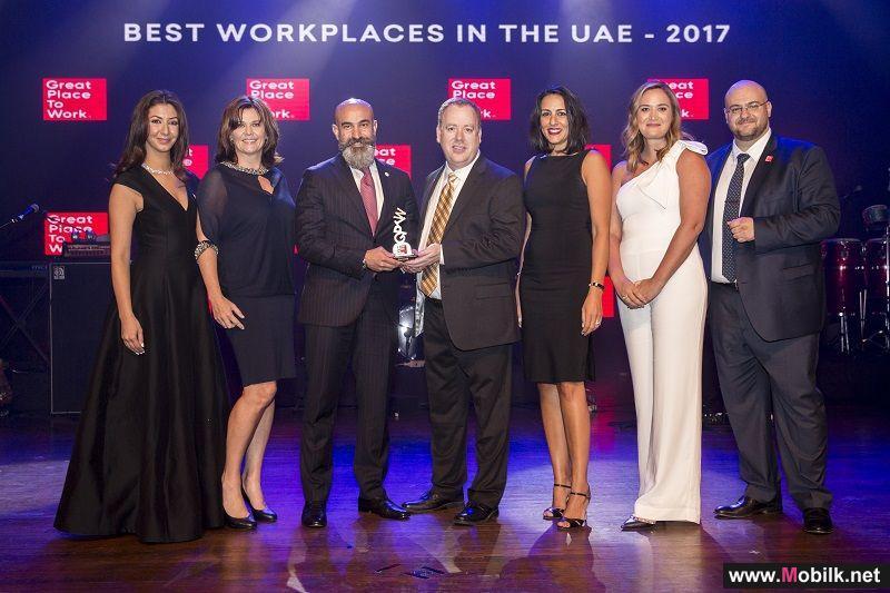 تصنيف سيسكو ضمن أفضل 10 بيئات عمل في دولة الإمارات