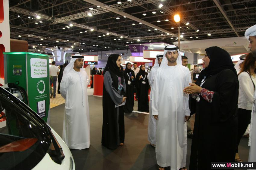 HH Sheikh Mansour bin Mohammed bin Rashid Al Maktoum  & Minister of Energy review DEWA's smart initiatives at GITEX 2014