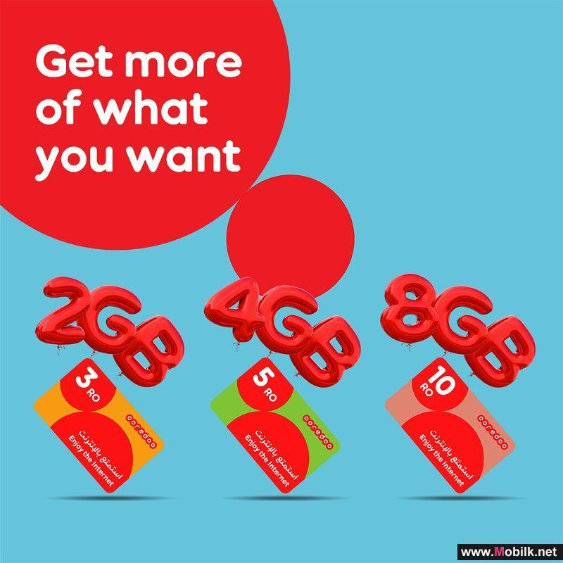 Ooredoo Gives Free Internet  with Big Data Offer on Recharge Cards