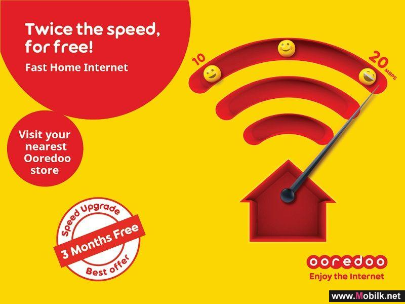 Enjoy Free Double Speeds with Ooredoo's Fast Home Internet