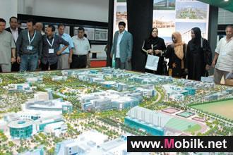 الدكتور مهندس محمد معمر القذافي يزور معرض إنجازات الفاتح