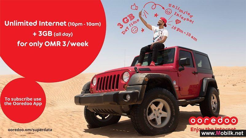 Enjoy Unlimited Internet for Just OMR 3 per Week with Ooredoo's Super Data Promotion