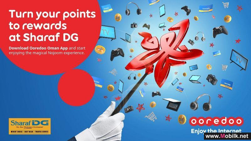 Ooredoo Rewards Nojoom Customers with New Sharaf DG Partnership
