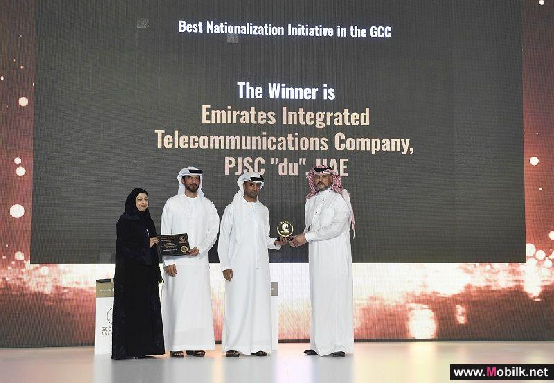 du Receives the Best Nationalisation Initiative Award at GCC GOV HR Awards in recognition for its Transformative Emiratisation Roadmap