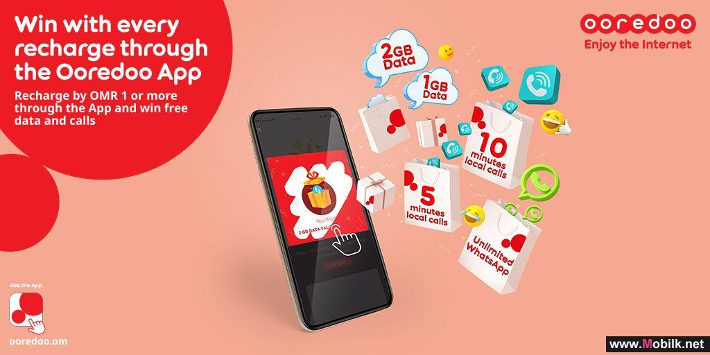 Recharge, Scratch and Win through the Ooredoo App