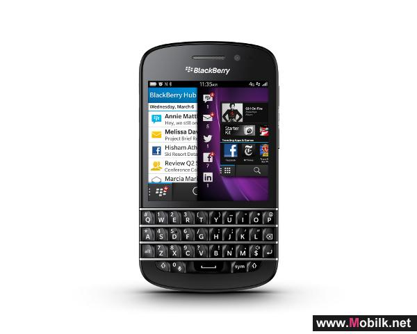 Du launches BlackBerry Q10 4G in UAE