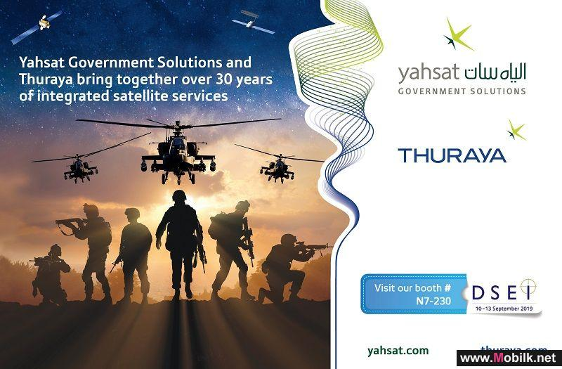 YAHSAT AND THURAYA REINFORCE UAE PRESENCE AT DSEI 2019  WITH JOINT PORTFOLIO OF DEFENSE COMMUNICATION SYSTEMS