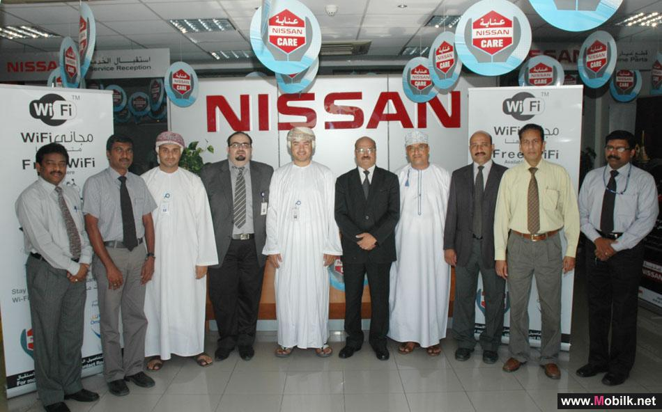Omantel launches Wi-Fi Service at Nissan Service Centre