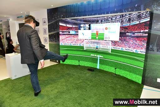 du and Nokia demonstrate new 5G use case with virtual reality football game at GITEX 2018