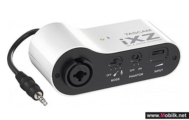 جهاز TASCAM iXZ يحوِّل أجهزة آبل إلى أستوديو تسجيل محمول