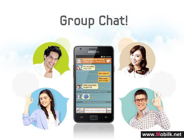 ابق على تواصل مع خدمة ChatON من سامسونج للتراسل المجاني والمزيد من المتعة والمرح