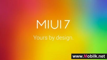 شياومي تعلن عن نظام MIUI 7 المبني على أندرويد