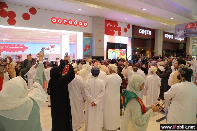 Ooredoo تحتفل بالعيد الوطني الثامن والأربعين المجيد مع عملائها وموظفيها في مسقط جراند مول
