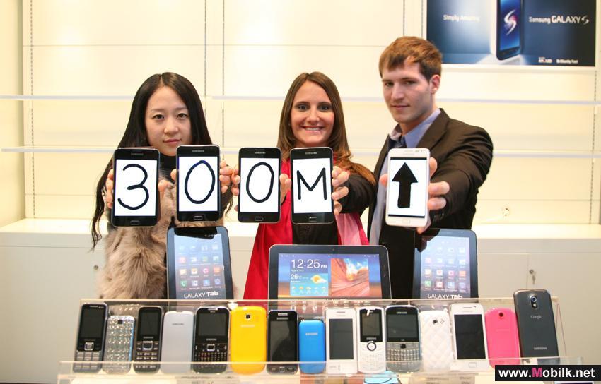 سامسونج تحقق مبيعات عالمية من الهواتف المتنقلة بلغت 300 مليون وحدة خلال 2011