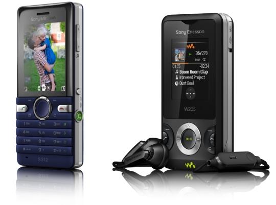 Sony Ericsson reveals the lower midrange S312 and W205