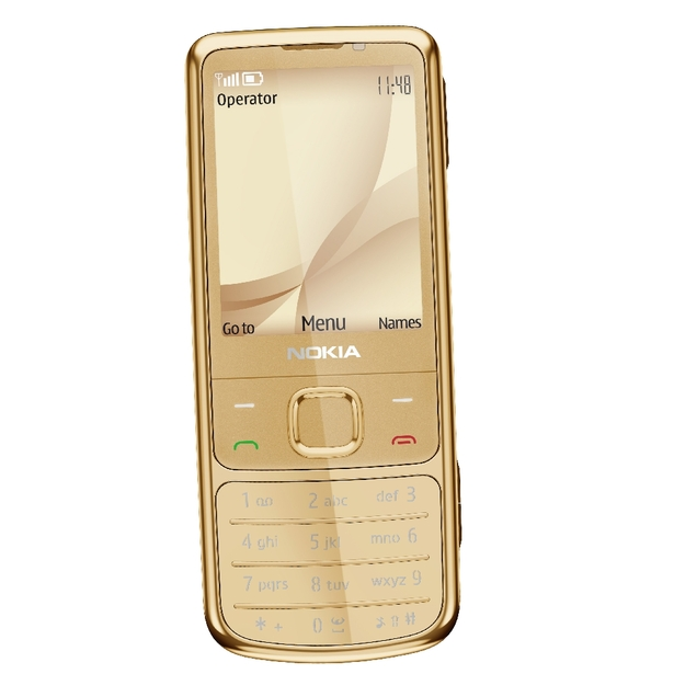 Attractive mobile from nokia 6700 classic Gold Edition