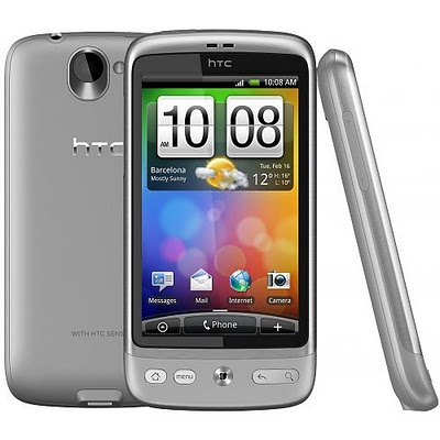 Silver color version of the  HTC Desire