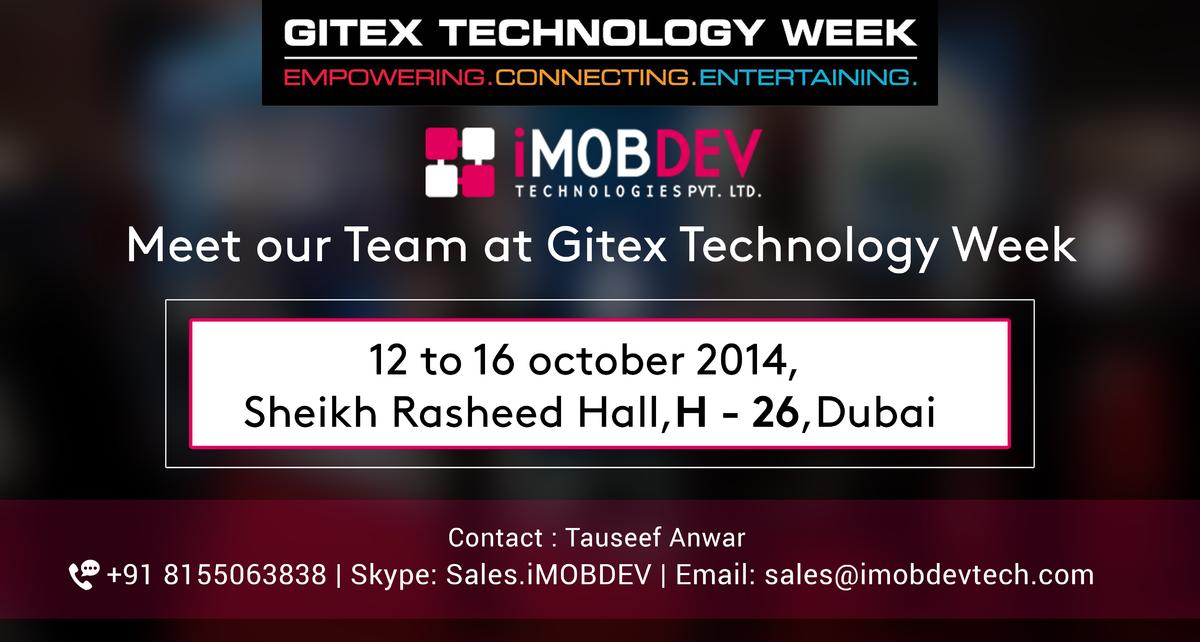 Meet iPhone App Development Company iMOBDEV at GITEX