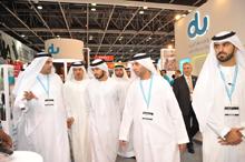 H.H. Sheikh Majid bin Mohammed bin Rashid Al Maktoum visits du at GITEX Shopper 2012