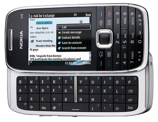 Nokia E75 is now available in stores, ready for heavy-duty corporate emailing